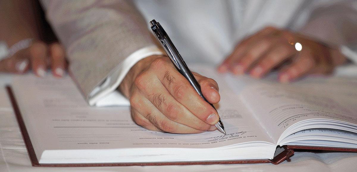 escritura matrimonial